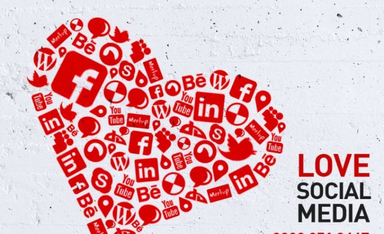 Love and social media / image illustration