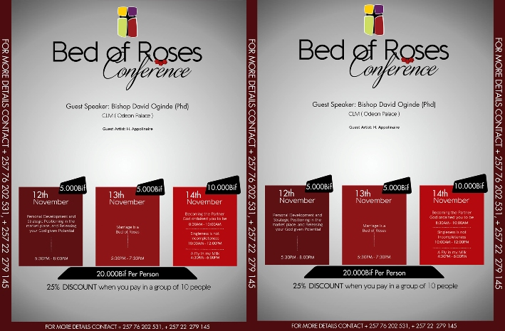 BED OF ROSES CONFERENCE: AN OPPORTUNITY TO DEVELOP AND BE INSPIRED.