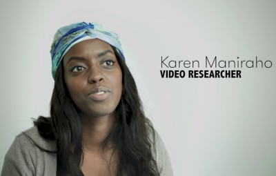 Karen Maniraho , researcher for Cut Video