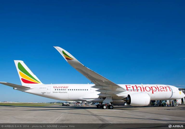 Ethiopian 1st Airline in Africa to Receive Airbus A350XWB and First in the World to fly it in African Skies