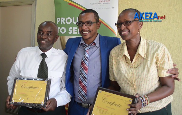 Ethiopian Airlines Burundi office iconic employees received certificate of honour ©Akeza.net