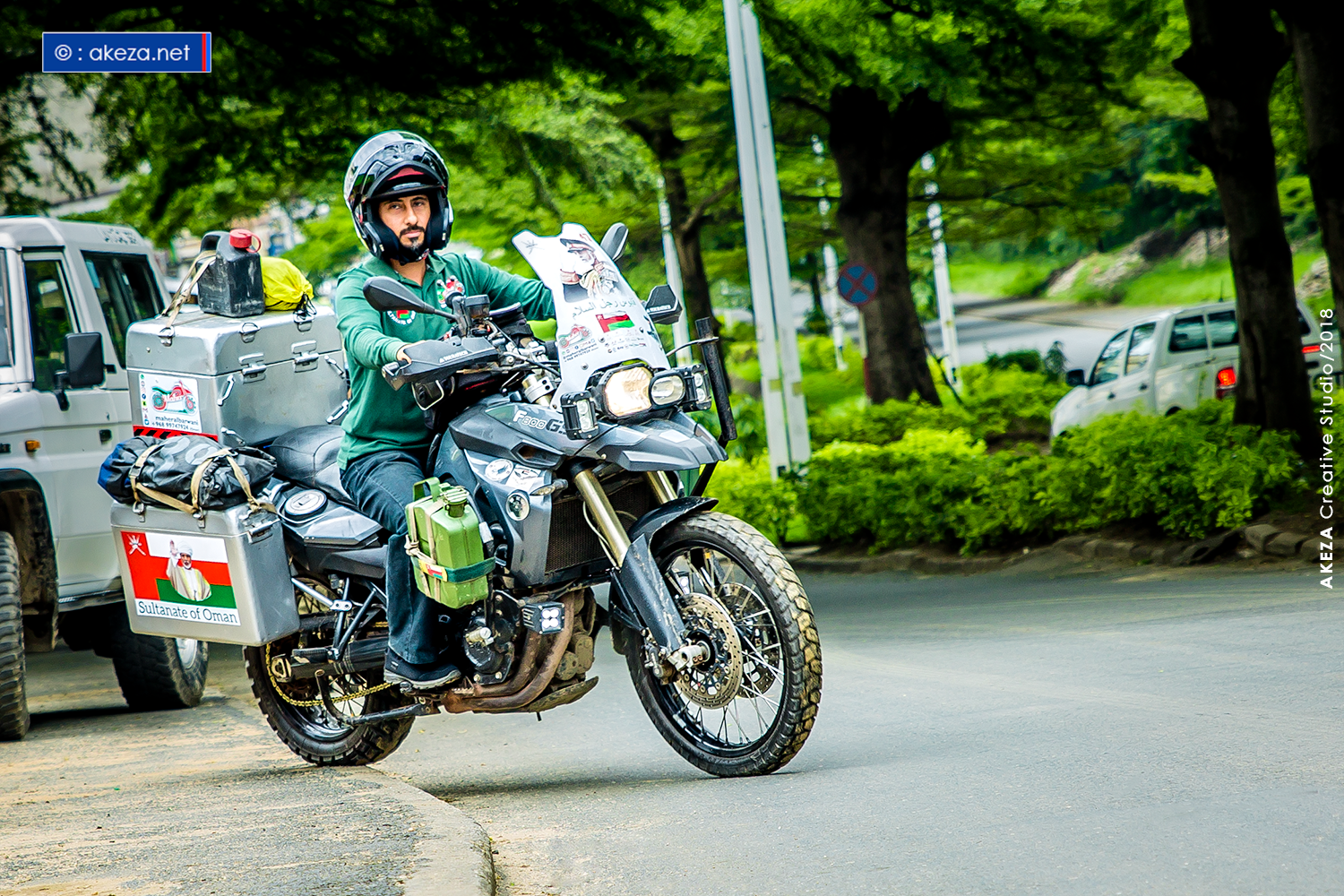 Meet Maher Al Barwani, the Omani who is traveling Africa on a motorbike
