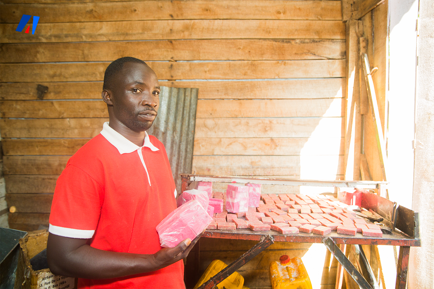 """Disability is not inability""! Vianney Saïdi Baseka is producing hygienic products despite his disability."
