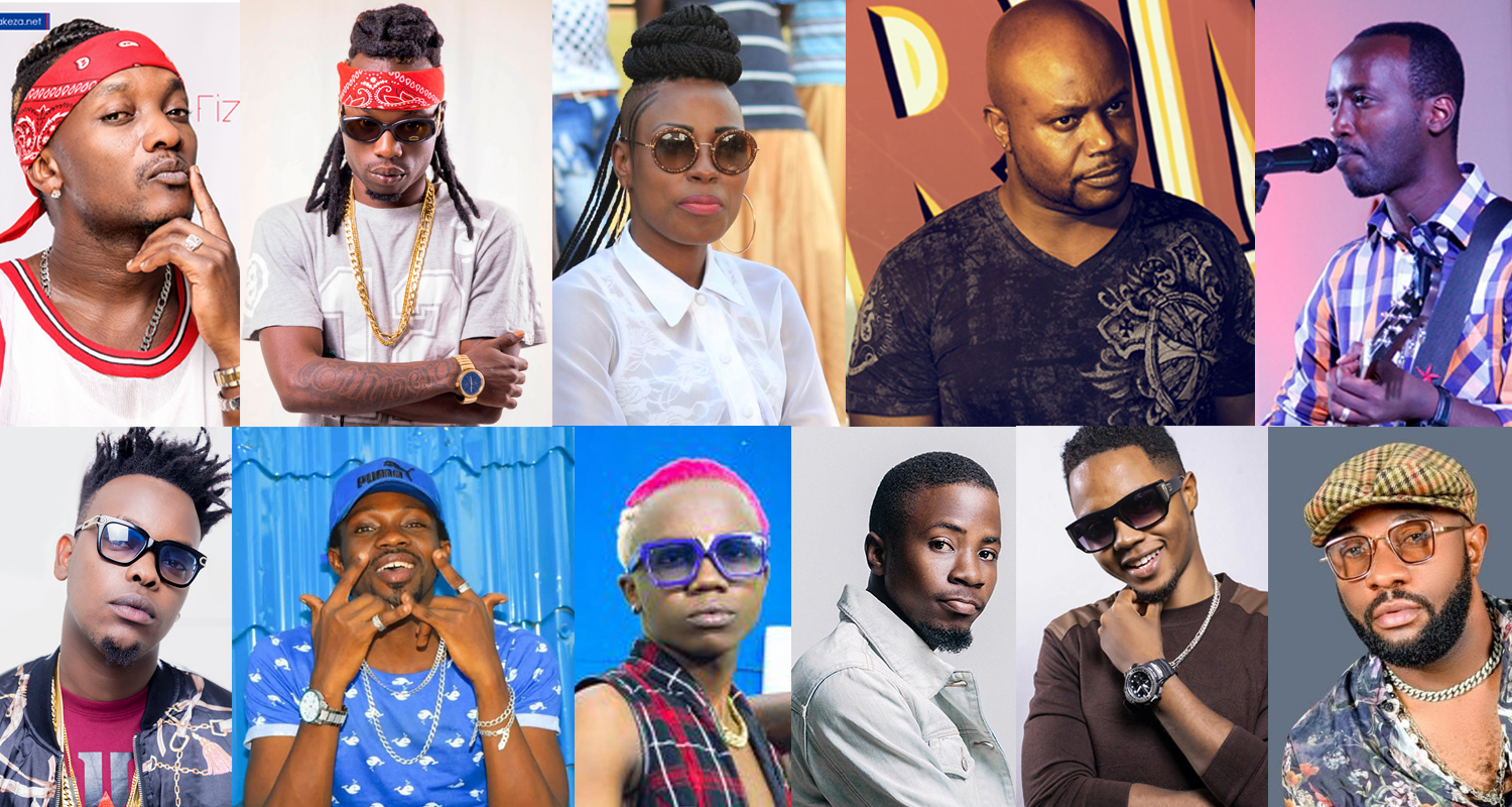 Who are the most followed Burundian singers on social media?
